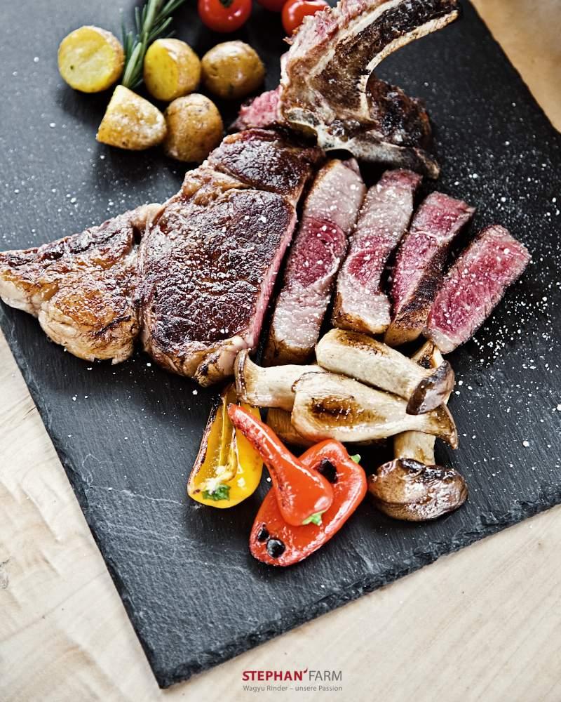 Wagyu Steak Hohe Rippe gegrillt