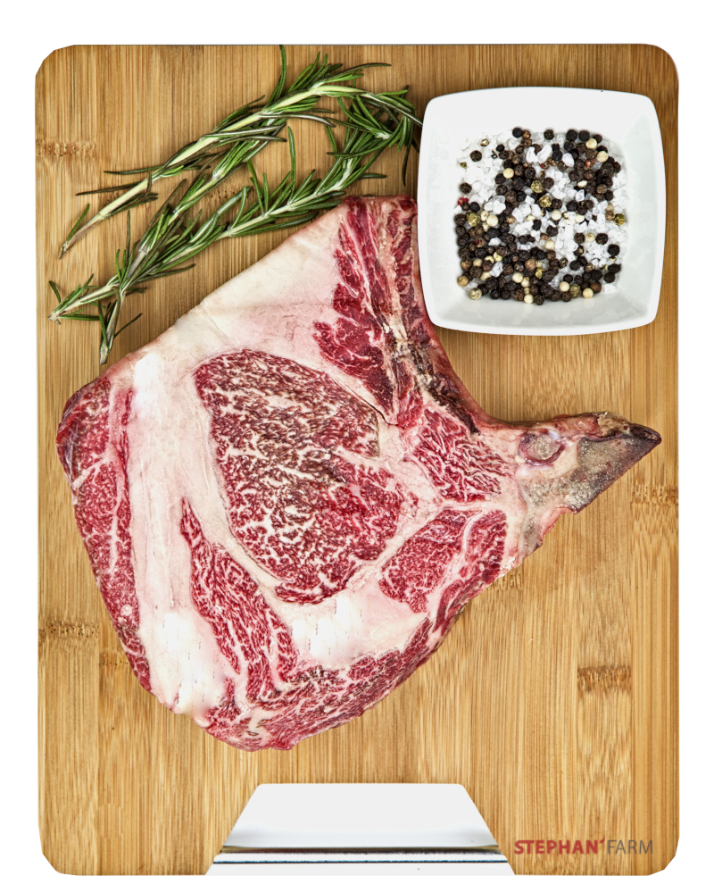 Wagyu Steak Hohe Rippe im Rohzustand